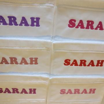 4 Toalhas de banho personalizadas com nome