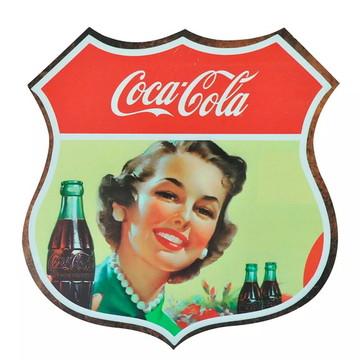 Quadro Decorativo Retro-vintage - Garagem-bar-sala-Coca Cola