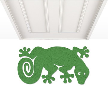 Capacho tapete de porta lagarto verde