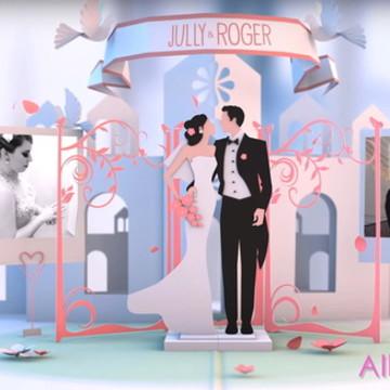 Vídeobook / Album Casamento digital em 3D - Personalizado