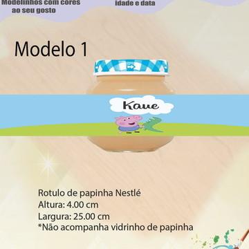 Rótulo Vidro Papinha-Peppa