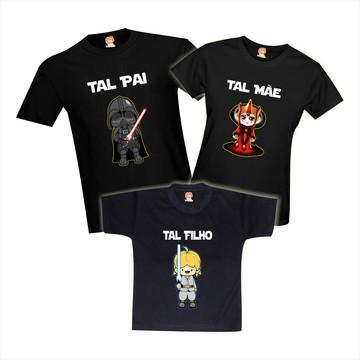 Camisetas Star Wars - Darth Vader - Padma Amidala - Luke