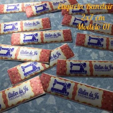 Etiqueta de cetim Bandeirinha 100 und