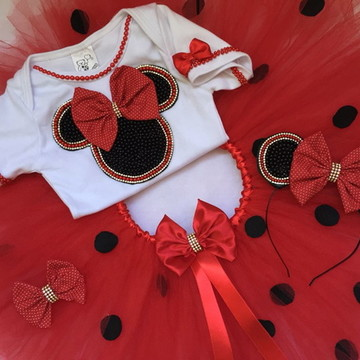 Fantasia da Minnie Rosa ou Vermelha