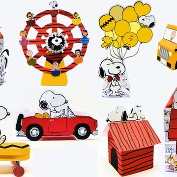 Kit Digital Arquivo Corte Silhouette Snoopy 1