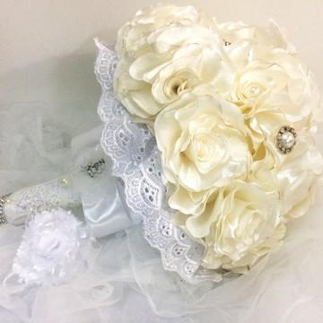 Buque De Noiva Marfim-brinde Cravo Lapela-tendência 2018