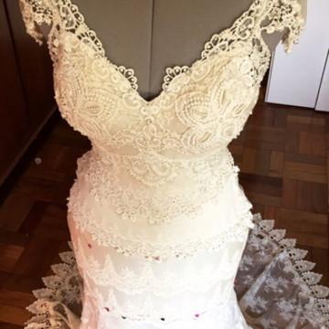 Vestido de noiva Merlines- Boho chic