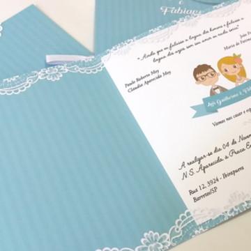 Convite Mariana - Renda Impressa