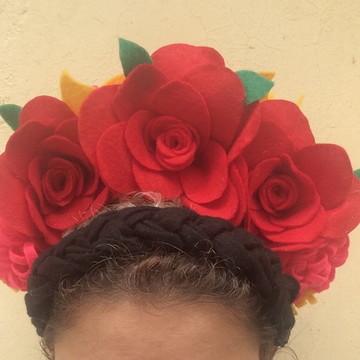 Tiara Frida Kahlo com trança