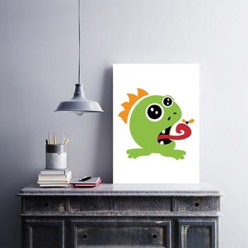 "Placa decorativa MDF ""Cute Little Monster"""