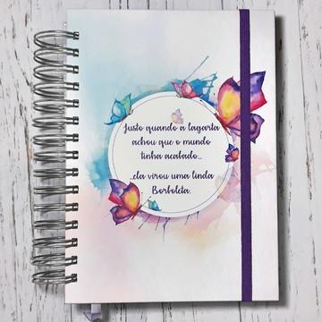 Caderno pontilhado 200 folhas Bujo Bullet Journal Borboletas