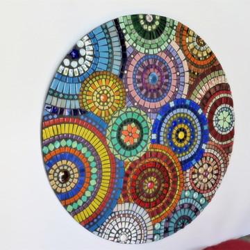 Mandala em mosaico círculos 60