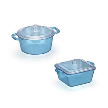 Mini Panelinha e Mini Caçarola Brigadeiro Azul