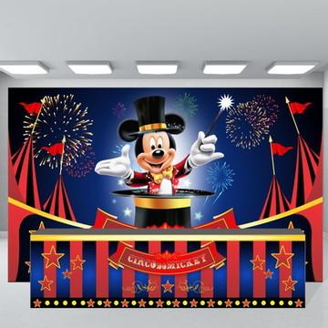 SUPER KIT Circo Mickey Painel + Fechamento de Mesa