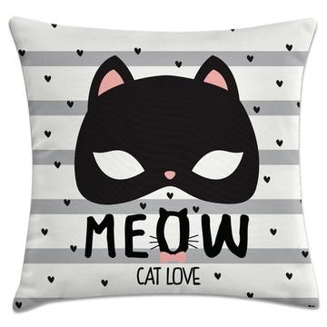 capa de almofada meow gato love
