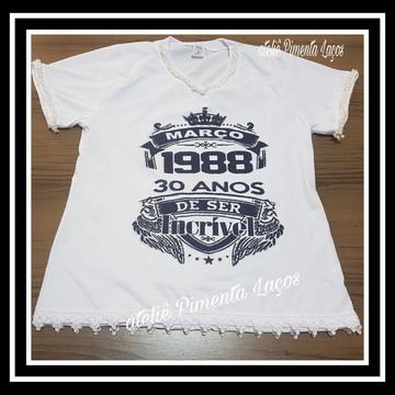 Camiseta Estampada Tema De Repente 30