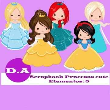Kit Digital Scrapbook Princesas Cute