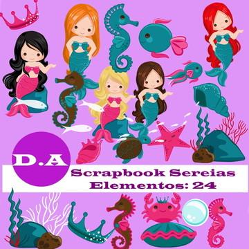 Kit Digital Scrapbook Sereias