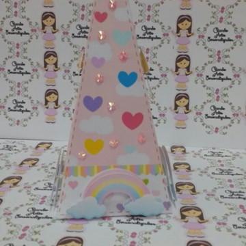 Caixa Piramide Chuva de Bencao Menina