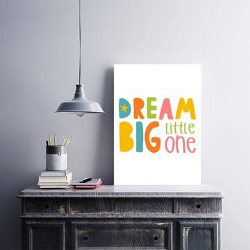 "Placa decorativa MDF ""Dream Big Little One"""