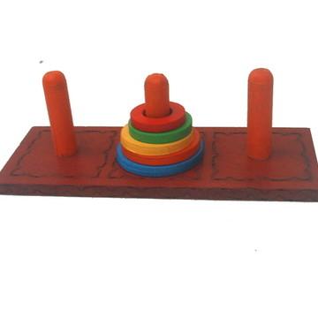 Desafio Torre de Hanoi -Jogos e Brinquedos Educativos