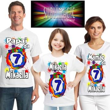 Kit 3 Camisetas Pintando 7
