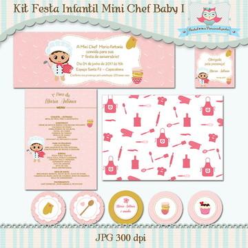 Kit Festa Infantil Mini Chef Baby I