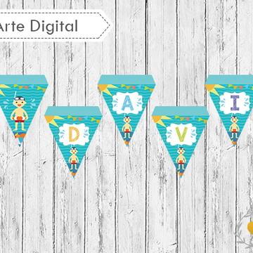 Kit Bandeirolas Pool Party (digital)