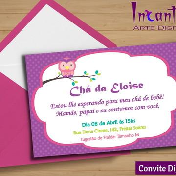 Convite Digital Chá de Bebê Corujinha 02