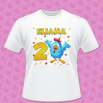 camisa personalizada galinha pintadinha