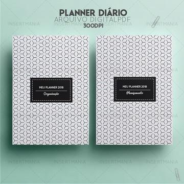 Planner diário não datado permanente para imprimir pdf A5