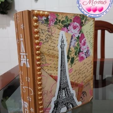 Caixa Livro em mdf tema Paris