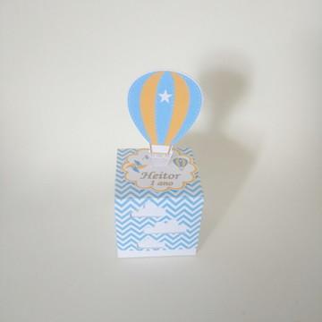 Caixa cubo balão de ar 3D