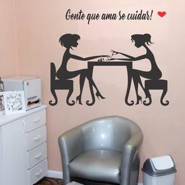 Adesivo de parede salão manicure
