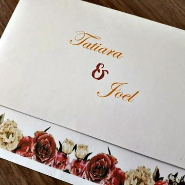 Convite de Casamento Barato Marsala