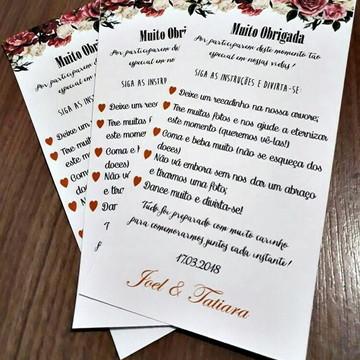 PROMOÇÃO Cartão Agradecimento Marsala Barato Econômico