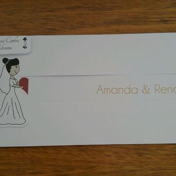 Convite de Casamento Encontro dos noivos