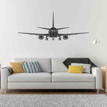 Adesivo parede avião boeing aviação grande 120cm