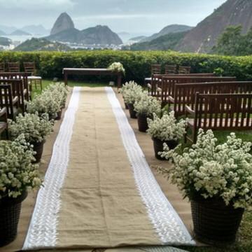 Cerimônia de casamento rústica