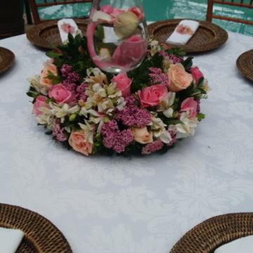 Centro de mesa Donzela em Flor natural