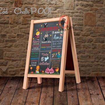Painel festa decoração chalkboard pequeno