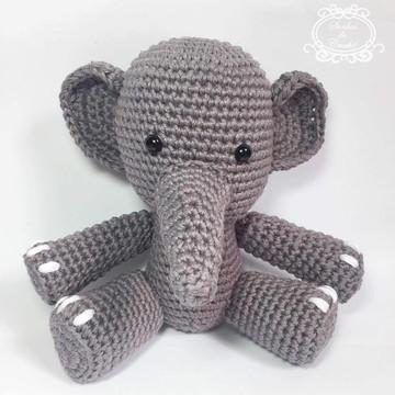 Elefante Amigurumi em Crochê