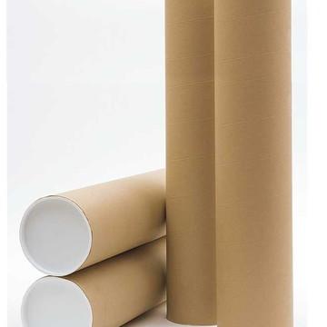 Tubo Postal De Papelão Tubete Canudo 9,80cm X 3,81cm Ø 01Und