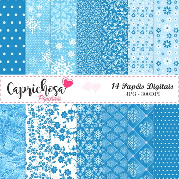 Kit Papel digital azul