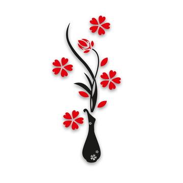 Escultura Vaso de flores aplique de parede