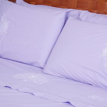 beb8e40cc8 Roupa de Cama Viúva 250 fios Palito Crivo II lilás branco