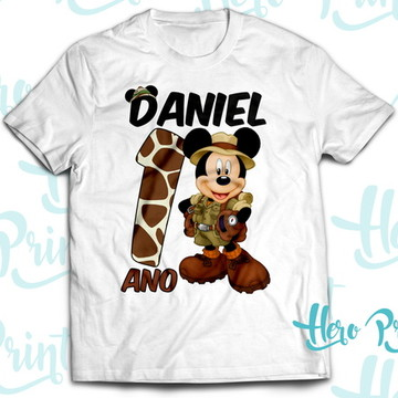 Camiseta Aniversario Mickey Safari