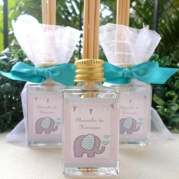 Lembrancinha aromatizador 30ML vidro - Elefante chevron