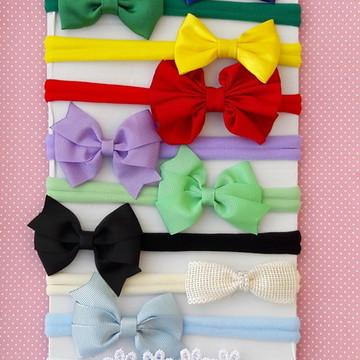 kit faixa cabelo bebe recem nascido com 10 faixinhas
