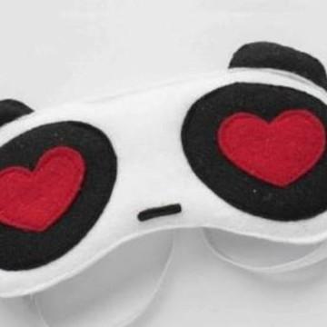Máscara para Dormir em feltro Panda